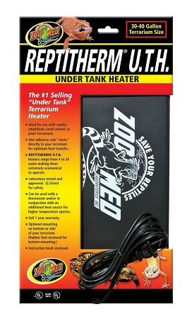 Zoo Med Reptitherm Under Tank Heater 30 40gal 8x12