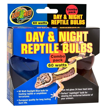 Zoo Med Day Amp Night Reptile Bulbs Combo Pack 60w