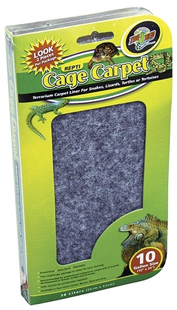 Zoo Med Cage Carpet 10 X 20in 10gal