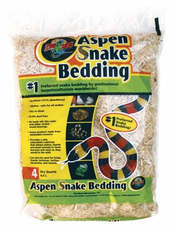 Zoo Med Aspen Snake Bedding 4qt