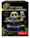 Zoo Med ReptiRapids LED Skull Waterfall Medium